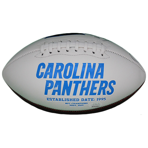 Rocket Ismail Autographed Carolina Panthers Logo Football (JSA-Certified)