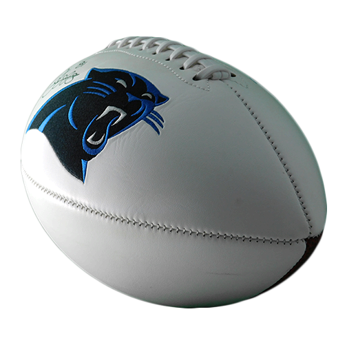 Rocket Ismail Autographed Carolina Panthers Logo Football (JSA)