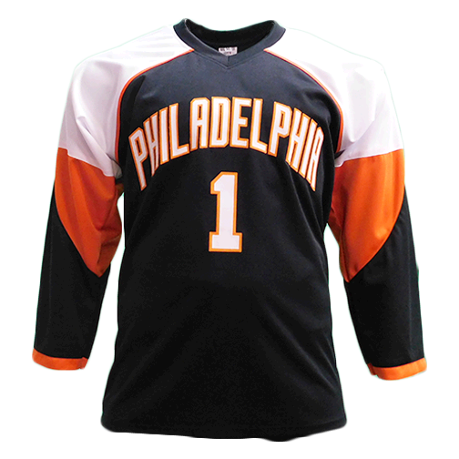 Bernie Parent Autographed Black Hockey Jersey (JSA)