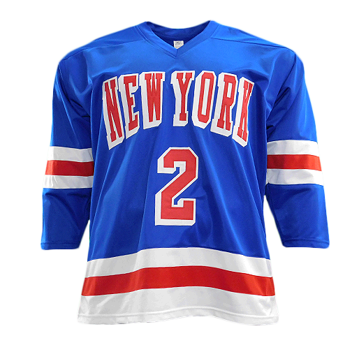 Brad Park Signed Pro Edition New York Hockey Jersey Blue (JSA)