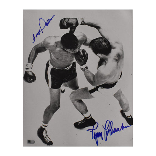 floyd patterson & ingemar johansson signed 11x14 aerial photo aiv certificate of authenticity