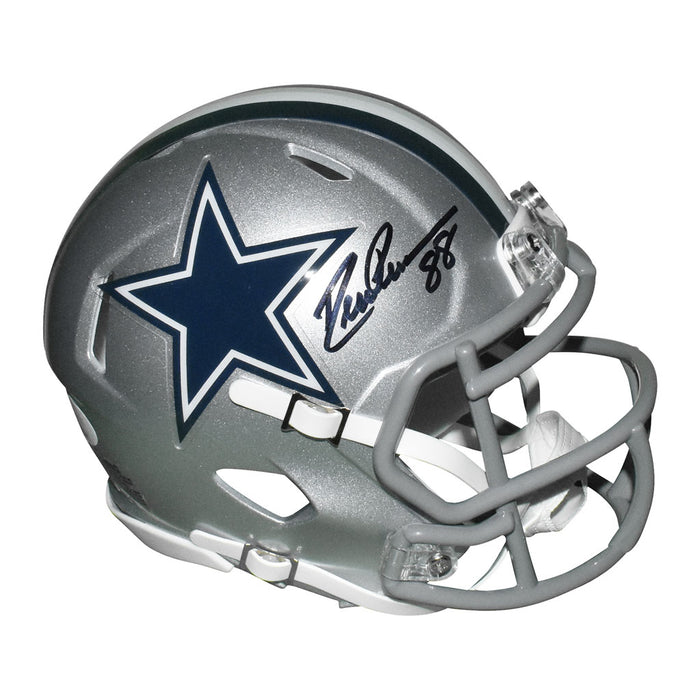 Drew Pearson Signed Dallas Cowboys Speed Mini Replica Silver Football Helmet (JSA)