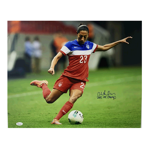 Christian Press Autographed 16 x 20 Kicking (JSA COA) MISC Soccer