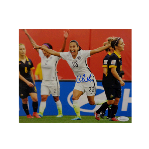 Christian Press Autographed 8 x 10 Celebration (Side View) (JSA) Soccer