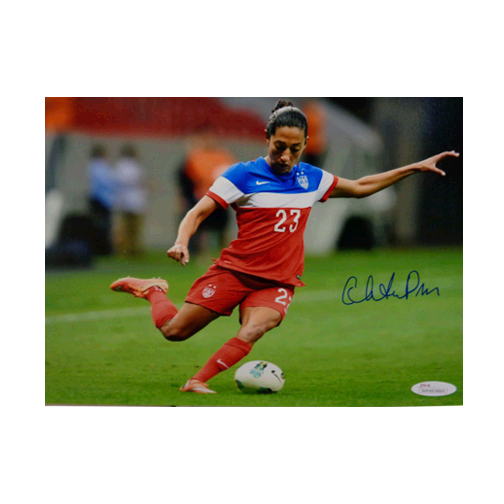 Christian Press Autographed 8 x 10 Kicking (JSA) Soccer