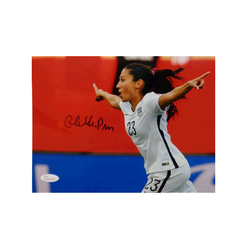 Christian Press Autographed 8 x 10 Flag Pose (Pointing Hands) (JSA COA) MISC