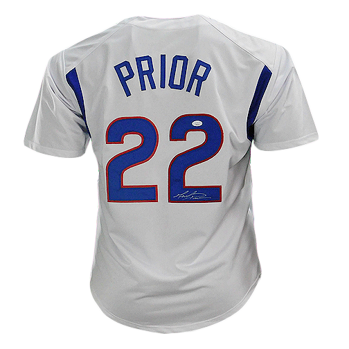 Mark Prior Signed Chicago Pro Edition White Baseball Jersey (JSA)