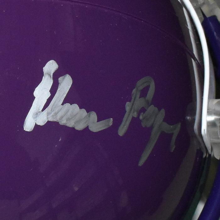 Purple People Eaters Eller, Larsen, Marshall, and Page Signed Minnesota Vikings Full-Size Football Helmet (Beckett)