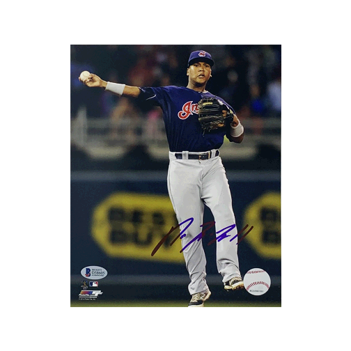 Jose Ramirez Autographed 8 x 10 Photo (Beckett) Certified (BAS) Fielding Pose