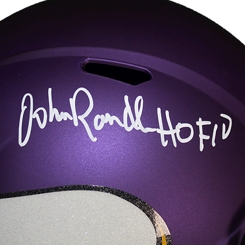 John Randle Minnesota Vikings Autographed Full Size Replica Football Helmet (JSA) HOF Inscription Included