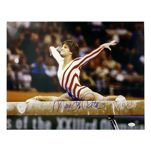 Mary Lou Retton Autographed 16 x 20 Photo USA Olympics Gymnastics Splits (JSA)