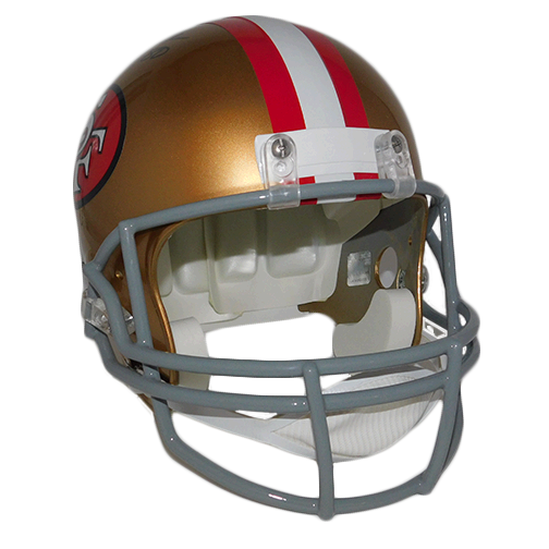Jerry Rice Full Sized Autographed Replica Football Helmet JSA COA!