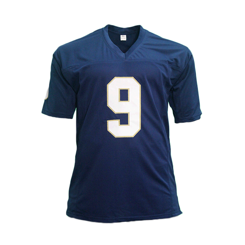 "Tony Rice ""88 National Champs"" Notre Dame Autographed Blue Football Jersey (JSA)"