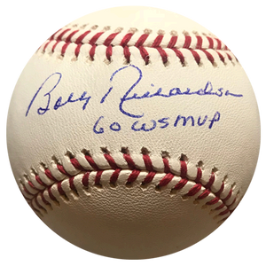 """12 Hour Best Price"" Bobby Richardson Yankees Autographed Official Major League Baseball (JSA COA) 60 WS MVP Inscription Included"