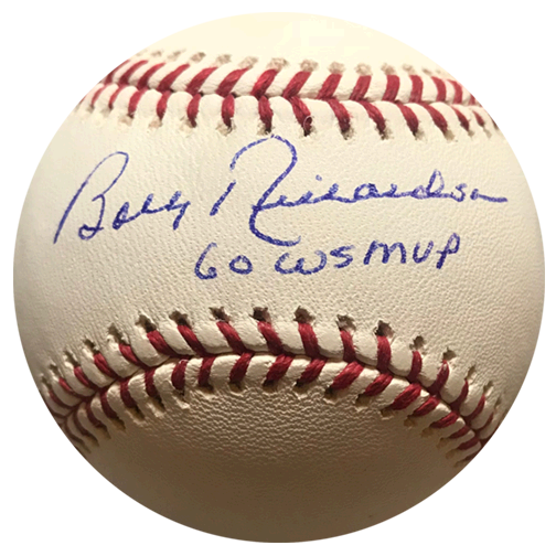 Bobby Richardson Yankees Autographed Official Major League Baseball (JSA) 60 WS MVP Inscription Included