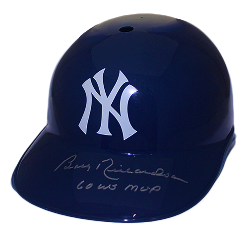 Bobby Richardson Yankees Autographed Full Size Souvenir Baseball Batting Helmet (JSA COA ) World Series MVP Inscription 1960