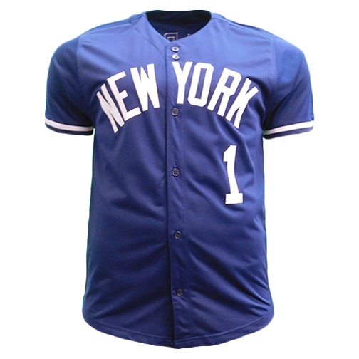 Bobby Richardson Pro Style Autographed Baseball Jersey Navy (JSA) 1960 World Series MVP Inscription Included