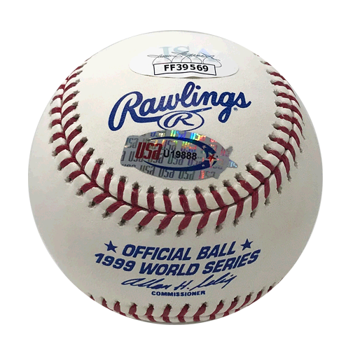 Mariano Rivera Yankees Signed '99 WS MVP Official 1999 World Series Baseball (JSA)