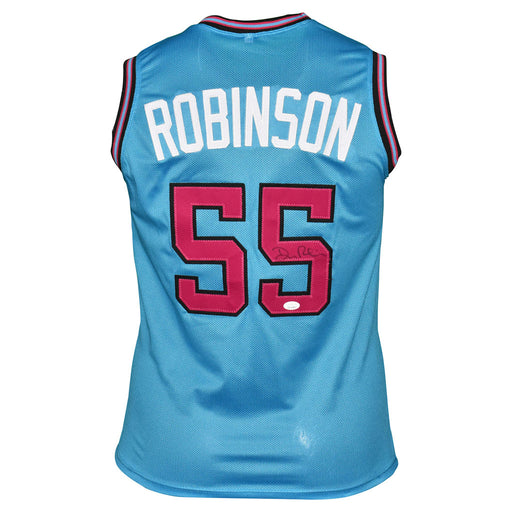 Duncan Robinson Signed Miami Pro Blue Basketball Jersey (JSA)