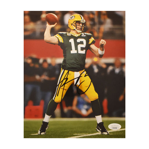 Aaron Rodgers Signed Green Bay Packers Throwing 8x10 Photo (JSA)