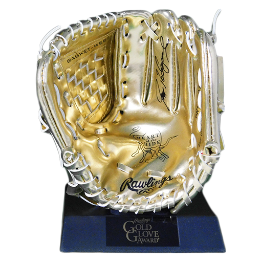 Ivan Rodriguez Signed Rawlings Mini Gold Glove Award (JSA)