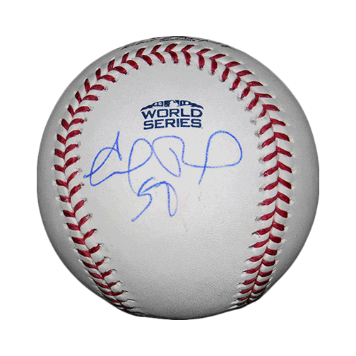 Eduardo Rodriguez Autographed 2018 World Series Official Major League Baseball!