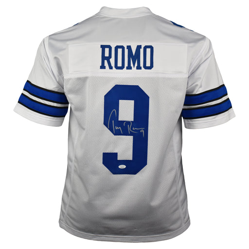 Tony Romo Signed Pro-Edition White Football Jersey (JSA)