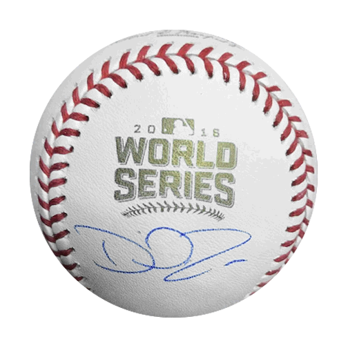 David Ross Autographed 2016 World Series Official Major League Baseball (JSA)