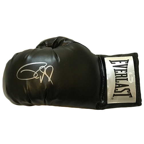 Roy Jones Jr Autographed Boxing Glove Black JSA Authenticated
