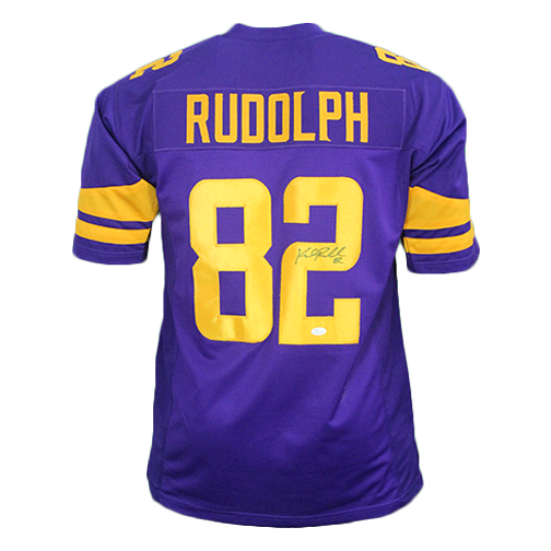 watch 8a236 9fb3d Kyle Rudolph Autographed Pro Style Football Jersey Color Rush (JSA COA)