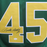 Rudy Ruettiger Autographed College Style Football Jersey Green JSA