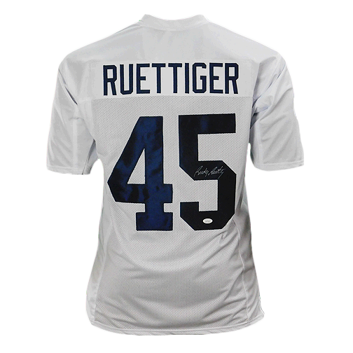 Rudy Ruettiger Signed College Edition White Football Jersey (JSA)