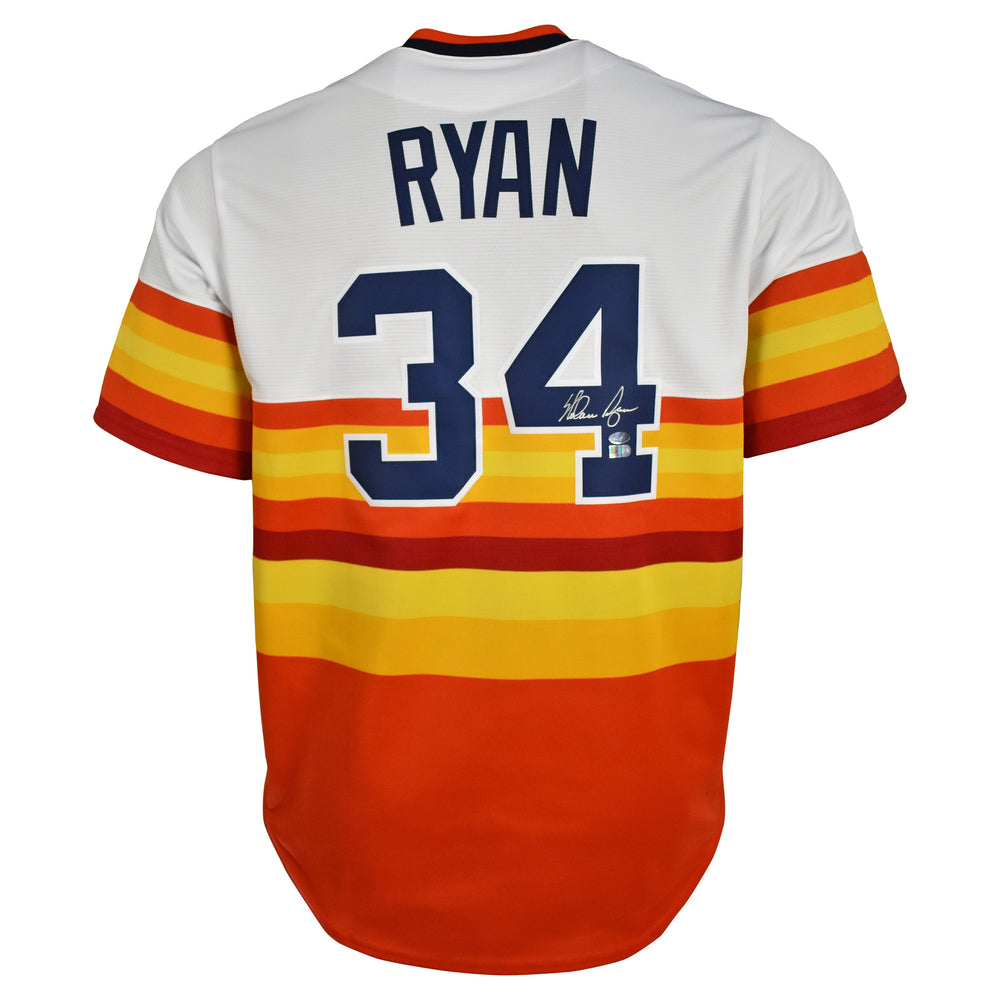 Nolan Ryan Signed Houston Astros Majestic Jersey Rainbow (AIV & Nolan Ryan Holo)