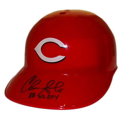 Chris Sabo Cincinnati Reds Autographed Baseball souvenir Helmet (JSA) 88 ROY Inscription Included