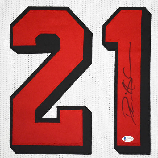 Deion Sanders Signed San Francisco Pro White Shadow Football Jersey (Beckett)