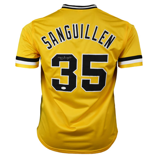 Manny Sanguillen Signed Pittsburgh Pro-Edition Yellow Baseball Jersey (JSA)