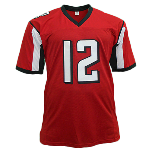 timeless design 55240 ebced Mohamed Sanu Sr Red Pro Style Autographed Football Jersey (JSA COA)