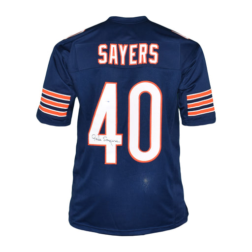 Gale Sayers Signed Pro Edition Blue Football Jersey (PSA)