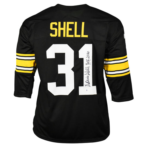Donnie Shell Signed HOF 2020 Inscription Pittsburgh Pro Black Football Jersey (Beckett)