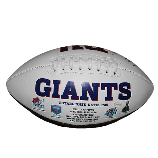Sterling Shepard New York Giants Logo Full Size Autographed Football (JSA COA)