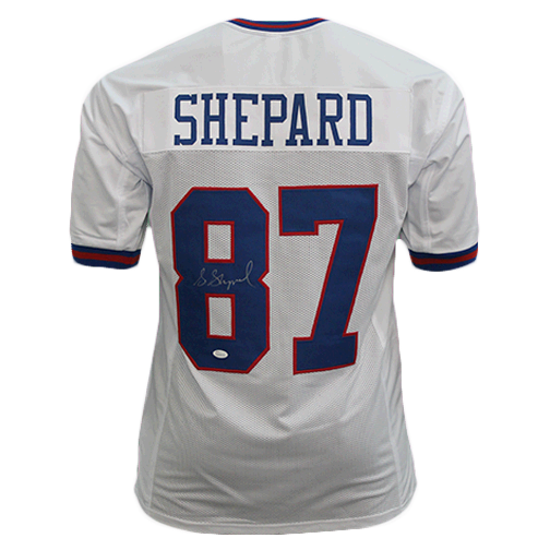 Sterling Shepard Autographed Pro Style Football Jersey White Color Rush (JSA)