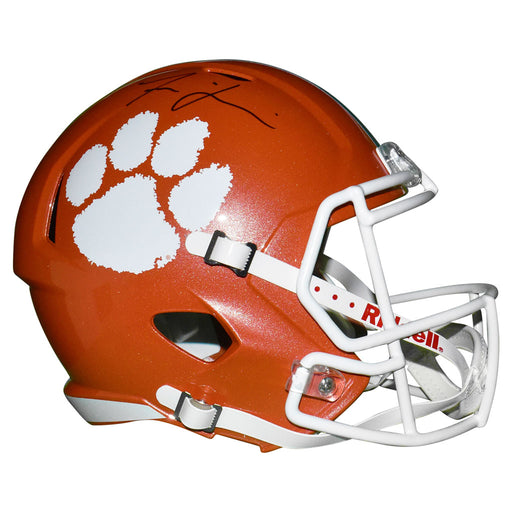 Isaiah Simmons Signed Clemson Tigers Speed Full-Size Replica Orange Football Helmet (JSA)