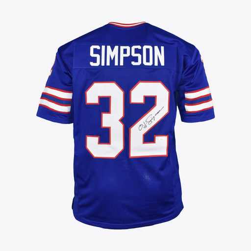 OJ Simpson Signed Pro-Edition Blue Football Jersey (JSA)