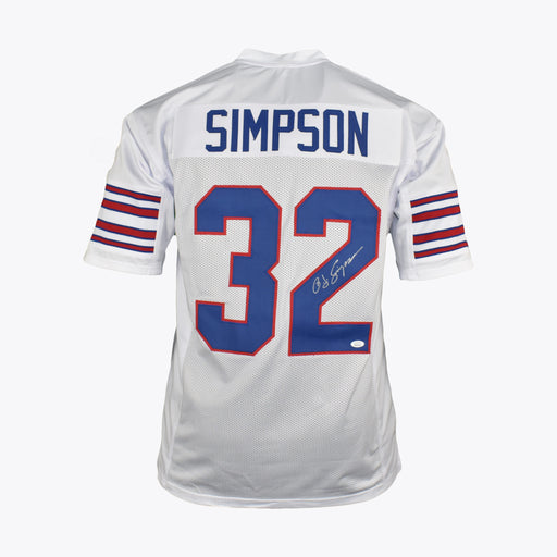 OJ Simpson Signed Pro-Edition White Football Jersey (JSA)