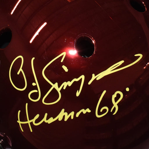 OJ Simpson Signed Heisman 68 USC Trojans Full-Size Chrome Replica Football Helmet (JSA)