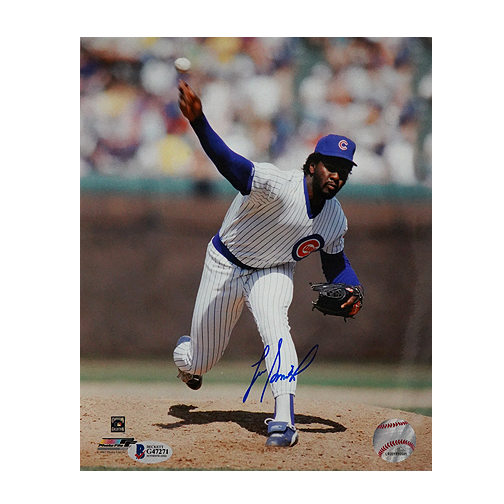Lee Smith Signed Chicago Cubs Release 8x10 Photo (Beckett)
