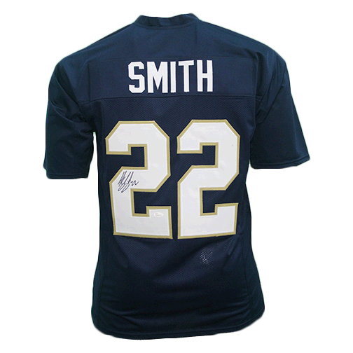 Harrison Smith Notre Dame Autographed Football Jersey Blue (JSA)
