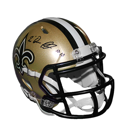Tre'Quan Smith New Orleans Saints Autographed Mini Football Speed Helmet (JSA)