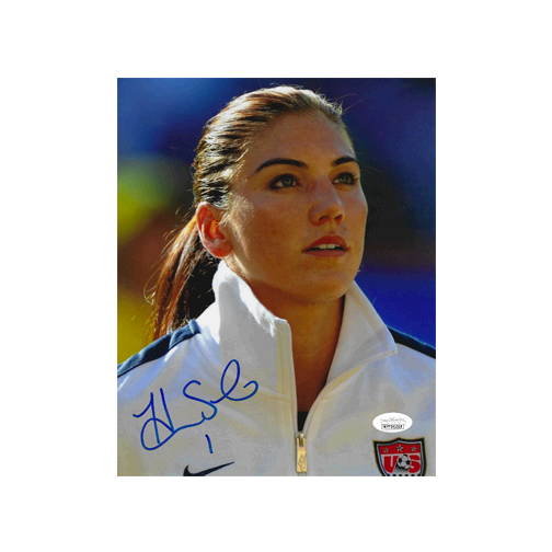 Hope Solo Autographed 8 x 10 Photo (JSA COA) Pose 3