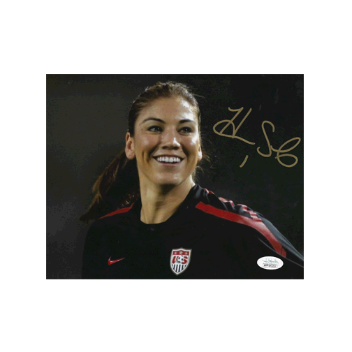 Hope Solo Autographed 8 x 10 Photo (JSA COA) Pose 2